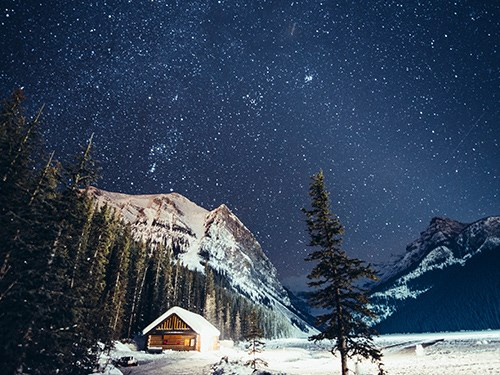 Snow in Banff, Canada