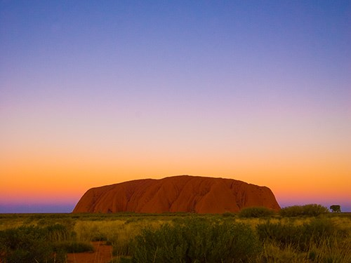 Uluru as the sun rises